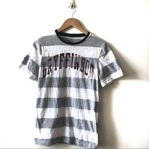 Harry Potter Gryffindor Grey Striped Tee
